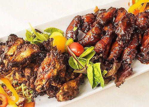 Yah Mon Amazing Bone in Wings Jerk Honey BBQ and Smoked 640 x 360